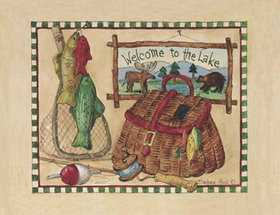 # rcab0511s Welcome To The Lake by Barbara Mock Art Print
