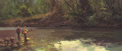 # rcab1075s Upstream by Salvador Caballero Art Print