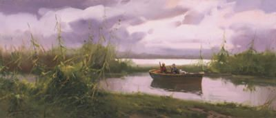 # rcab1076s Just Waiting by Salvador Caballero Art Print