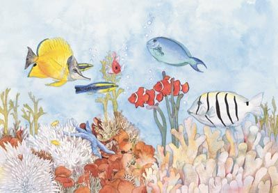 # rcab1082s Fish Friends by Bambi Papais Art Print