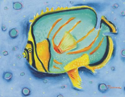 # rcab70694s Clown Butterfly Fish by Dona Turner Art Print