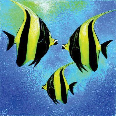 # rcab71680s Fish A Go Go l by Jenny Morton Art Print