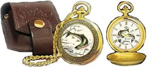 # RCCL11YK23S Franklin Mint Rainbow Trout Collector Pocket Watch