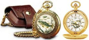 # RCCL11ZB31S Franklin Mint Large Mouth Bass Collector Pocket Watch
