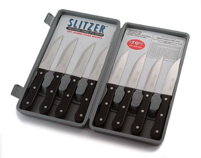 # RCCTSZ8S Slitzer 8 piece Professional German Style Jumbo Steak Knife Set
