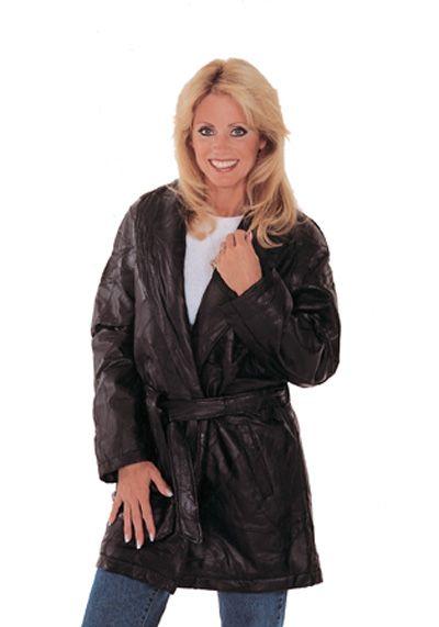 # RCGF34S Maxam Lambskin Leather Ladies 3/4 Coat