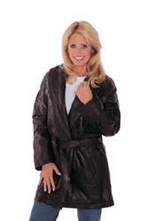 # RCGF34S Maxam Lambskin Leather Ladies 3/4 Coat