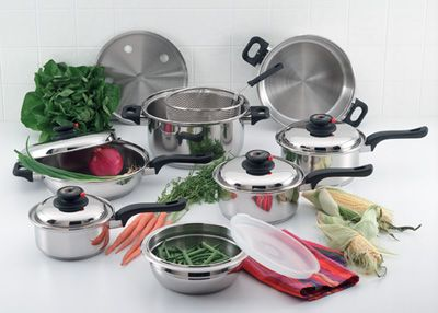 # RCKT915S ForeverWare 15 piece 9 Element Stainless Steel Cookware