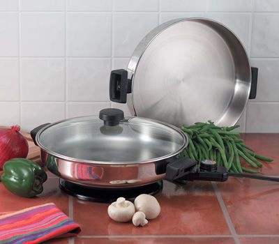 # RCKTES2S Precise Heat Electric Skillet