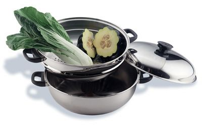 # RCKTGIANT2S Precise Heat Stainless Steel Oversized Skillet , Steamer and Cover