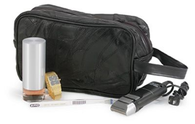 # RCLULSHAVES Embassy USA Leather Personal Travel Bag