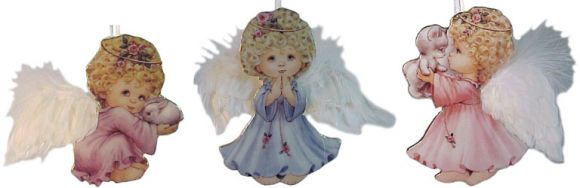 # RCRRDC68181S Christmas Ornament Set - Small Blessings Cherubs by the Bradford Exchange