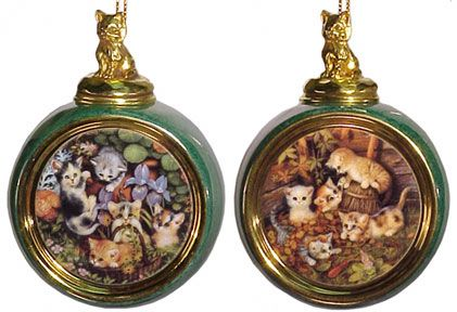 # RCRRDC68895S Christmas Ornament Set - Kitten Expeditions 9/10 by the Bradford Exchange