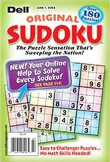 Dell Original Sudoku Magazine Subscription