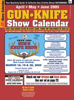 Gun Knife Show Calendar Magazine Subscription