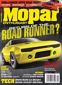 Mopar Enthusiast Magazine Subscription