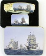 # RCBWCHPK2023SHIP1TS Sailing Ships Collectable Pocket knife and Lighter Set