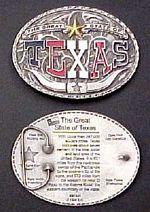 # RCGRBB1845TS Texas Collectable Belt Buckle