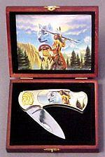 # RCGRPK803WITS Silver Warrior and Wolf Collector Pocket Knife